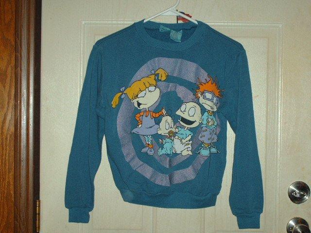 Gently Worn Size Large (10/12) Childrens Rugrats Sweatshirt - Unisex