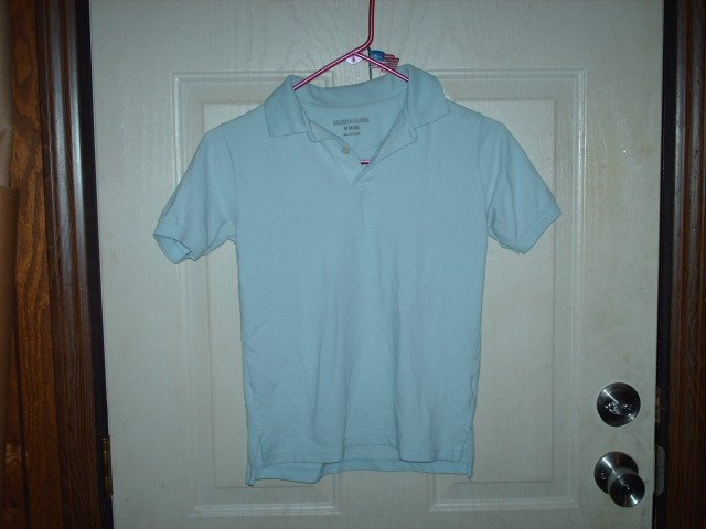 Gently Worn Faded Glory Light Blue School Uniform Shirt Kids Size 8/10