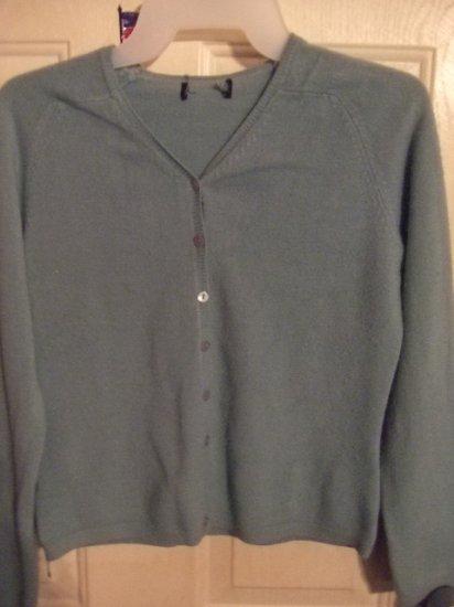 Gently Worn Fern Green Cardigan Sweater Girl's Size Medium