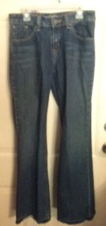 Gently Worn Levi Strauss Girl's Easy Flare Blue Jeans Size 14