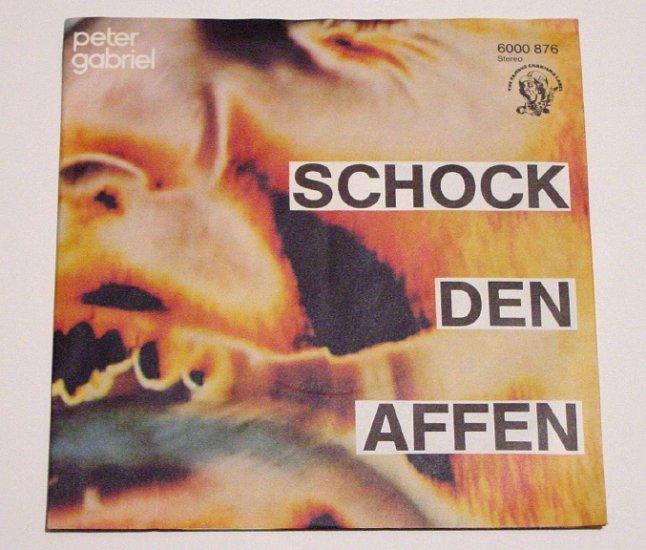 Peter Gabriel * SHOCK THE MONKEY * Original Rare German 45rpm 1982 Mint