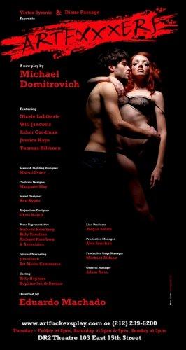 ARTFUCKERS Original Off Broadway NYC Theater Poster 2' x 3' Rare 2008
