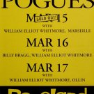 "THE POGUES Original Concert Poster * ROSELAND NYC * 17"" x 22"" Rare 2008 Mint"