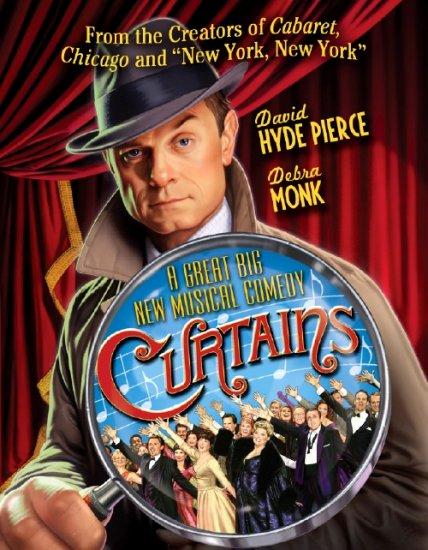 "David Hyde Pierce * CURTAINS * Original Broadway Poster NYC 14"" x 22"" MINT"