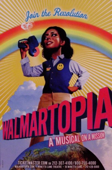 WALMARTOPIA Original Off-Broadway Theater Poster 2'x3' Rare 2007