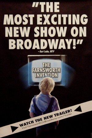 THE FARNSWORTH INVENTION Original Broadway Poster * Hank Azaria * 2' x 3' Rare 2007