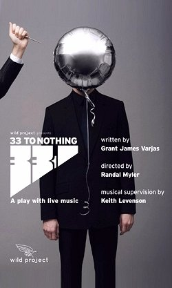 33 TO NOTHING Original Off-Broadway Theater Poster NYC 2' x 3' Rare 2007 Mint