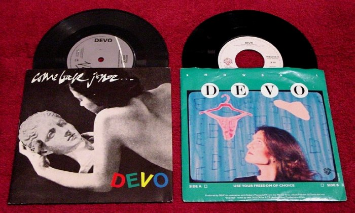 DEVO Original 45rpm Collection * Come Back Jonee & Freedom of Choice * Picture Sleeves 1978 MINT