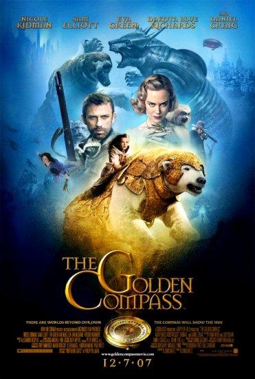 THE GOLDEN COMPASS Original Movie Poster * NICOLE KIDMAN * Huge 4' x 6' Rare 2007 Mint