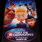 MEET THE ROBINSONS Original Disney Poster * TOM SELLECK * 2' x 4' Rare 2007 Mint