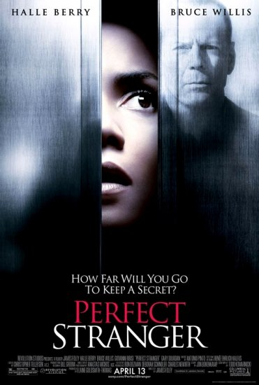 PERFECT STRANGER Original Movie Poster * BRUCE WILLIS & HALLEY BERRY * Huge 4' x 6' Rare 2007 Mint