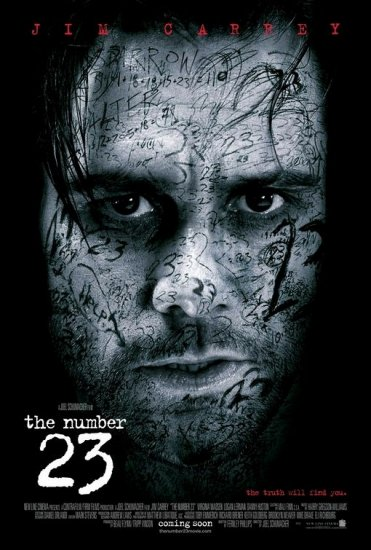 THE NUMBER 23 Original Movie Poster * JIM CARREY * Huge 4' x 6' Rare 2007 Mint