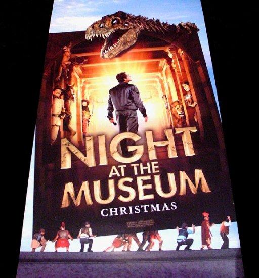 NIGHT AT THE MUSEUM Original Movie Poster * BEN STILLER * 2' x 4' Rare 2006 Mint
