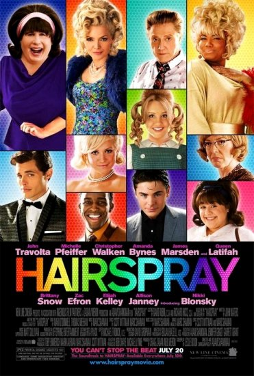HAIRSPRAY Original Movie Poster * JOHN TRAVOLTA & MICHELLE PFEIFFER * Huge 4' x 6' Rare 2007 Mint