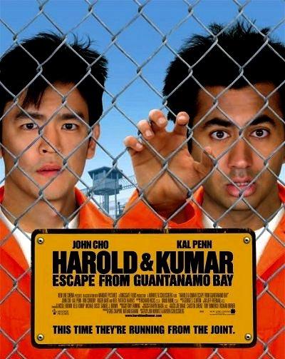 Harold & Kumar ESCAPE GITMO Original Movie Poster 2' x 3' Rare 2008 Mint