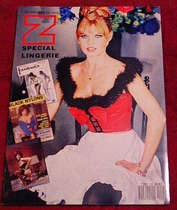 ZOOM French Art Magazine * Nudes ~ Lingerie & Pin up History ~ Bardot * Rare 1990 Mint