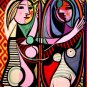 Picasso MOMA Original Art Exhibit Poster * GIRL BEFORE A MIRROR * 2' x 3' Rare 2006 Mint