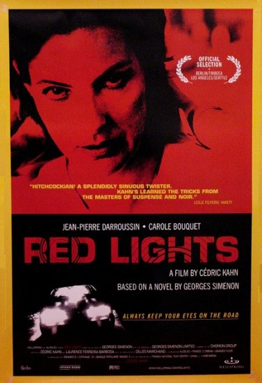 "Cedric Kahn's RED LIGHTS Movie Poster * CAROLE BOUQUET * 27"" x 40"" Rare 2004 NEW"