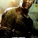 DIE HARD 4 Movie Poster * LIVE FREE or DIE HARD * BRUCE WILLIS 4' x 6' Rare 2007 NEW