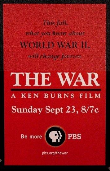 Ken Burns WORLD WAR 2 Movie Poster SET * THE WAR * PBS 2' x 3' Rare 2007 NEW