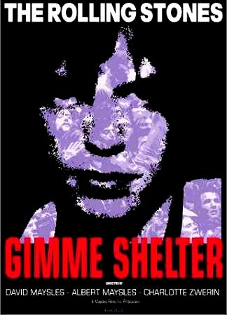 """The Maysles Brothers GIMME SHELTER Original Movie Poster * ROLLING STONES * 27"""" x 40"""" Rare 2000 Mint"""