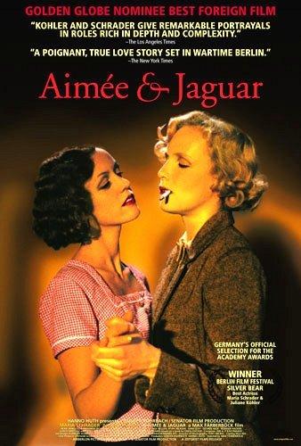 "AIMEE & JAGUAR Movie Poster * MARIA SCHRADER & JULIANE KOHLER * 27"" x 40"" Rare 1999 NEW"