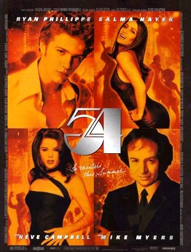 """STUDIO 54 Movie Poster * MIKE MYERS & NEVE CAMPBELL * 27"""" x 40"""" Rare 1998 NEW"""