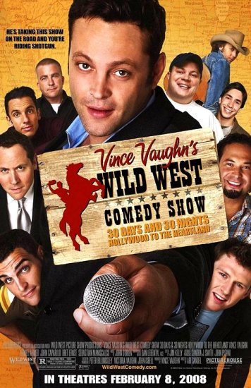 "Vince Vaughn's WILD WEST Movie Poster * JOHN CAPARULO & BRET ERNST * 27""x 40"" Rare 2008 NEW"