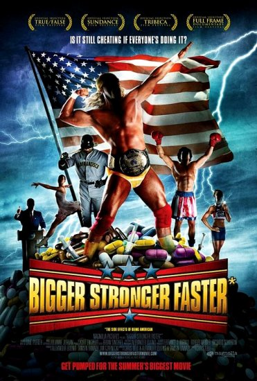 "BIGGER STRONGER FASTER Movie Poster 27""x 40"" Rare 2008 NEW"