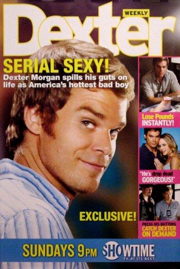 DEXTER Original Poster * MICHAEL C. HALL * People Cover 2' x 3' Showtime Rare 2008 Mint