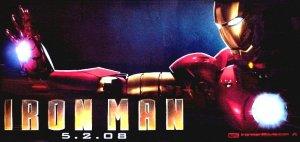 IRON MAN Movie Poster * ROBERT DOWNEY JR. * 3' x 6' Rare 2008 NEW