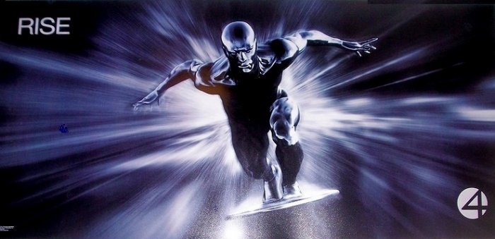 Fantastic 4 Movie Poster * RISE of THE SILVER SURFER * 3' x 6' Rare 2007 NEW