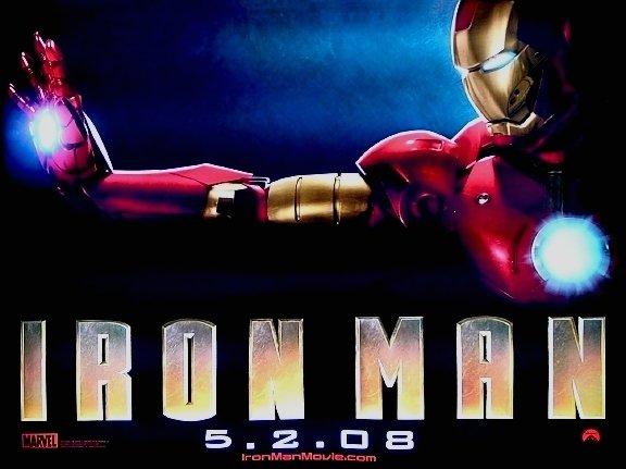 IRON MAN Movie Poster * ROBERT DOWNEY JR. * 4' x 5' Rare 2008 NEW