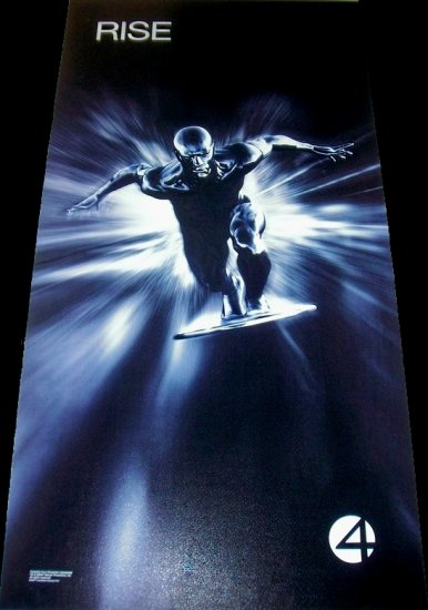 Fantastic 4 Movie Poster * RISE of THE SILVER SURFER * 2' x 4' Rare 2007 NEW