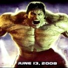 THE INCREDIBLE HULK Movie Poster * EDWARD NORTON * 3' x 6' Rare 2008 NEW