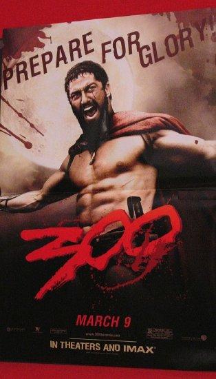 THE 300 Movie Poster SET * GERARD BUTLER & LENA HEADEY * 2' x 3' Rare 2007 NEW