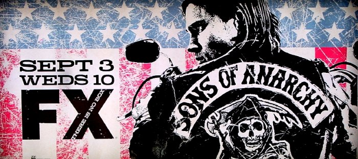 SONS OF ANARCHY Poster * CHARLIE HUNNAM & KATEY SAGAL * FX 3' x 6' Rare 2008 Mint
