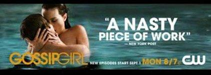 Ziegesar's GOSSIP GIRL Original Poster * Leighton Meester * CW 3' x 6' Rare 2008 NEW