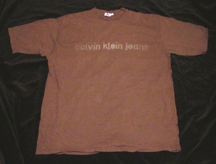 CALVIN KLEIN JEANS Soft Cotton Vintage T-Shirt Medium MINT