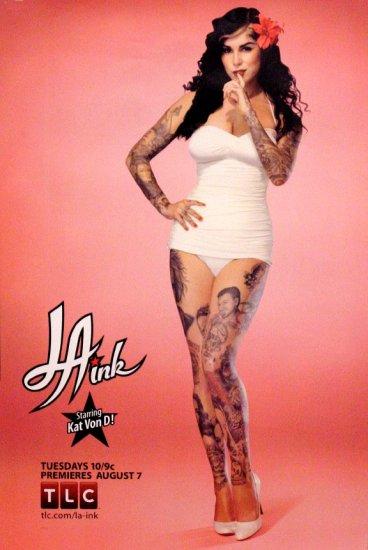 L.A. INK Poster * KAT VON D * TLC 2' x 3' Rare 2007 NEW