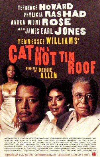 "CAT ON A HOT TIN ROOF Broadway Poster * JAMES EARL JONES * 14"" x 22"" Rare 2008 NEW"