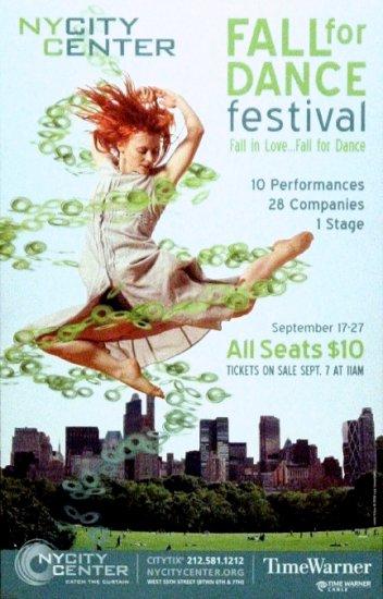 "NEW YORK CITY CENTER Dance Poster * FALL FOR DANCE * 14"" x 22"" Rare 2008 NEW"