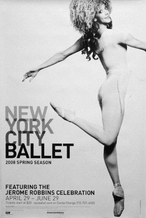 NYC BALLET Original Poster * JEROME ROBBINS * 2' x 3' Rare 2008 Mint