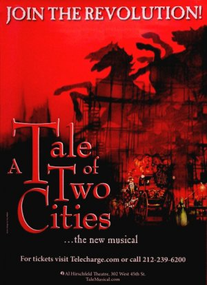 TALE OF TWO CITIES Broadway Poster 3' x 4' Rare 2008 NEW