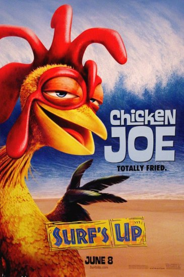SURF's UP Original Movie Poster * Chicken Joe * Huge 4' x 6' Rare 2007 Mint