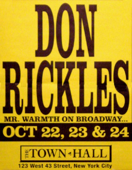 "Don Rickles * MR. WARMTH * Broadway Poster 17"" x 22"" Rare 2008 NEW"