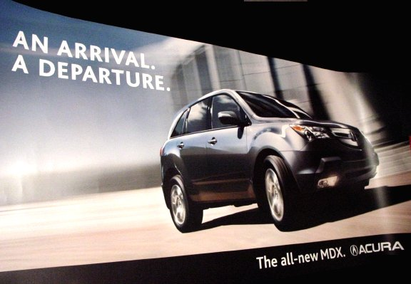 Toyota MDX Acura Original BusStop AD Poster 3' x 6' NEW 2007