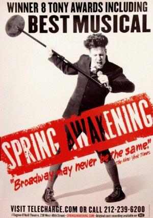 SPRING AWAKENING Original Broadway Theater Poster * John Gallagher * 3' x 4' Rare 2007 Mint