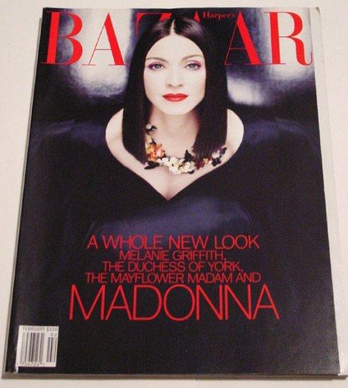 Bazaar Magazine * MADONNA * Cover & Spread FEB 1999 MINT