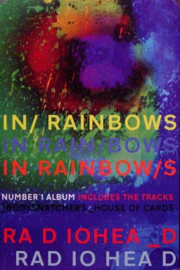 "Radiohead * IN RAINBOWS * Music Poster 14"" x 22"" Rare 2008 NEW"